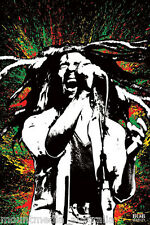 BOB MARLEY - PAINT SPLASH RASTA COLOURS POSTER (91x61cm)  NEW WALL ART