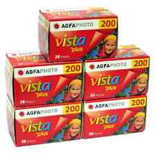 New 5 Rolls of Agfa Vista Plus 200 135-36 Color Print Film Exp 04/2017