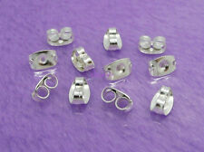 Butterfly Earring Backs Silver Plated Earring Stopper 5mm 100 Pcs