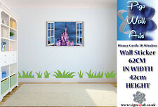 Disney wall decal sticker Fantasy Castle 3D Effect Window children's bedroom.