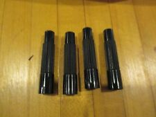 "Tire / Wheel Valve Stem Extension Black Plastic 1 1/2 ""  4pk Free ship!"