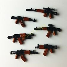 6pcs Weapons AK47 Gan For Lego Minifigures Building Bloks Toys Boy's Gift
