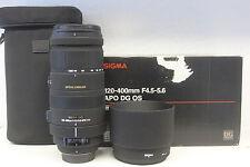 Sigma DG 120-400 mm F/4.5-5.6 DG HSM OS Objektiv für Nikon 1Jahr Gewährleistung