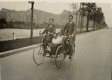 Photo Argentique VéloVélocipède Curieuse Bicyclette 1926