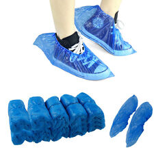 100PCS Plastic Disposable Shoe Covers Boot Covers Overshoes Medical Waterproof
