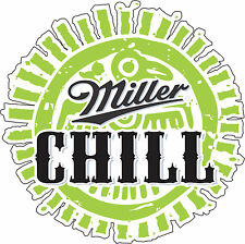 "Miller Chill  Alcohol Sticker - wall, window, vinyl sticker 5""x 5"""