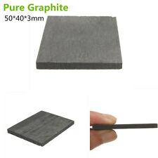 1Pc Black Graphite Anode Sheet Carbon Rectangle Plate Sheet 50mm X 40mm X 3mm