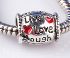 HOT 2pcs Painted LOVE big hole Beads Fit European Charm Bracelet A889