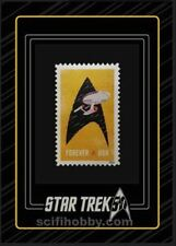 Star Trek 50th Anniversary trading cards 4 card STAMP insert set presale