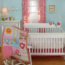 Sweet Lil Birds 7-Piece Baby Crib Bedding Set and Secure-Me Bumper by Nojo NEW