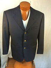 OXXFORD for Neiman Marcus 'Serge' Model Solid Navy Blue Wool Blazer Sport Coat
