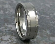 7mm Titanium Men's Wedding Band Comfort Fit Custom Made Ring ANY Size 3-22