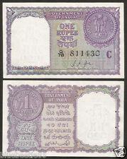 ★ ★ 1 Rupee ~ L.K Jha 'C' Inset ~ 1957 ~ UNC ~ A11 ~ ★★  bb85