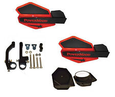 PowerMadd STAR Series Handguard Guards KIT Red Black Snow Mobile Snowmobile