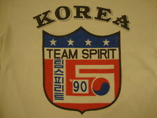Vintage Korea Team Spirit '90 Teamwork Dedication Committed T Shirt M