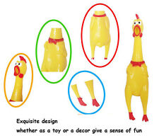 32CM Yellow Screaming Rubber Chicken Pet Dog Toy Squeak Chicken Christmas Gift
