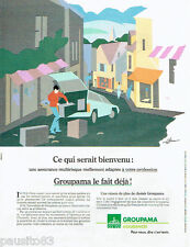 PUBLICITE ADVERTISING 115  1989 Groupama assurances multirisques par Ganier