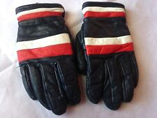 Vintage grain cowhide leather spring skiing gloves - size men's SMALL hotdoggin'