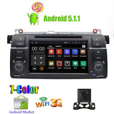 "For BMW E46 /320/325 7"" GPS Android 5.1 Car Standard Radio DVD Player OBD2 DAB+"