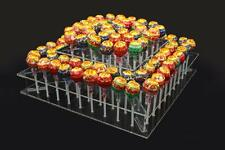 2-Tier DIY Clear Acrylic cake pop lollipop stand display party 100 HOLDERS
