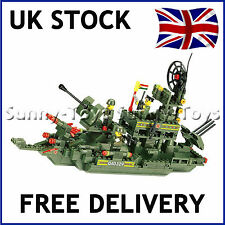 MILITARY ARMY WARSHIP BATTLE SHIP BOAT BUILDING BRICKS KIT 347 PIECES COMPATIBLE