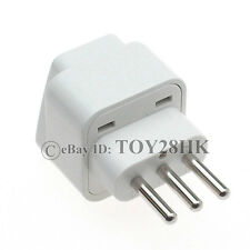 5 x Italy Travel Adapter AC Plug Convert EU AU US UK to Italian Grounded Plug