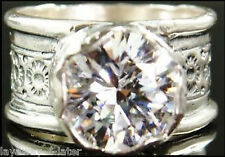 SILPADA Sterling Silver Wide Band HUGE 5ct CZ Queen 4 a Day Ring Size 8 R2208