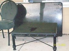 One Granite coffee table 3' by 3'; one Granite kitchen table with 4 padded chair