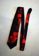 RARE James Dean Novelty Neck Tie Red Black Faces Actor Old Hollywood Portraits