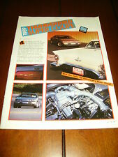 1989 FORD THUNDERBIRD SC SUPER COUPE ***ORIGINAL  ARTICLE***