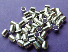 3mm x 3mm 925 Sterling Silver Seamless Crimp Tube 25pcs.
