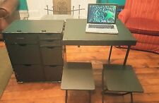 Brand New Portable US Military Field Desk w/ Stools M1952 Sealed NOS