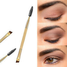 1PC Pro Makeup Tool Bamboo Handle Double Eyebrow Brush+Eyebrow Comb Makeup Brush