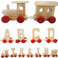 Scrabble Wooden Alphabet Kids Name Train Letters Personalised as Children Gift