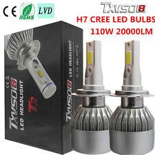 CREE H7 110W 20000LM LED Car Headlight Conversion Kit Beam Bulbs 6000K White US