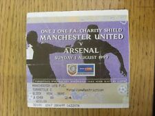01/08/1999 Ticket: FA Charity Shield, Manchester United v Arsenal [At Wembley] (