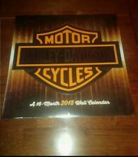 Harley Davidson 16 Month 2015 Calendar Sealed New iconic motorcycle bike hobby