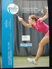 TENNIS – SHREWSBURY GB  AEGON PRO-SERIES ITF LADIES 15th-21st SEPTEMBER 2013