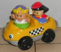 Fisher Price Current Little People Taxi with 2 figures FPLP Accessory