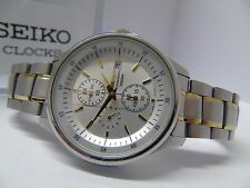 SEIKO 7T92-ONYO MENS 1/20th SECOND CHRONOGRAPH PILOT *USED/GOOD *RRP £239.99