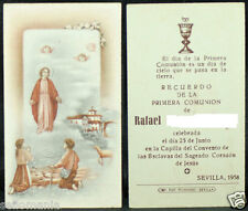 OLD FIRST COMMUNION REMEMBRANCE HOLY CARD YEAR 1958 ANDACHTSBILD SANTINI   C1111