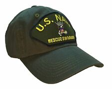 US Navy Rescue Swimmer Hat Olive Green 100% Cotton Ball Cap Style USN