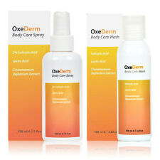OXEDERM ANTI-ACNE BODY WASH & SPRAY TREATMENT RID SPOTS [Best Deal Saver Pack!]