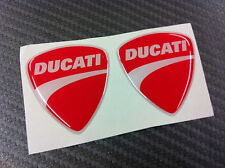 2 Adesivi Stickers New DUCATI Red 3D resinato 4 cm.