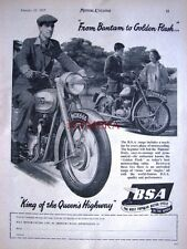 1955 BSA 'Bantam & Golden Flash' Motor Cycles ADVERT (487c) - Original Print Ad