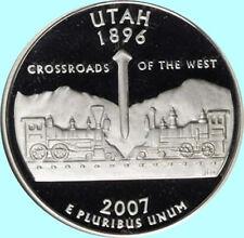 2007 S Clad Utah State Quarter Deep Cameo Gem Proof No Reserve