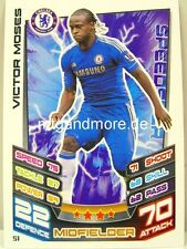 Match Attax 2012/13 Premier League - #051 Victor Moses - Chelsea