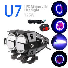 2PCS 125W 3000LM CREE U7 Motorcycle Motorbike LED Headlight Fog Spot Light Bulb