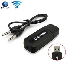 Black bluetooth music audio stereo receiver Adapter Dongle A2DP With AUX