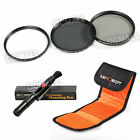 UV CPL ND4 Polarizing Lens Filter Kit Pen For Canon Nikon 52 55 58 62 67 72 77mm